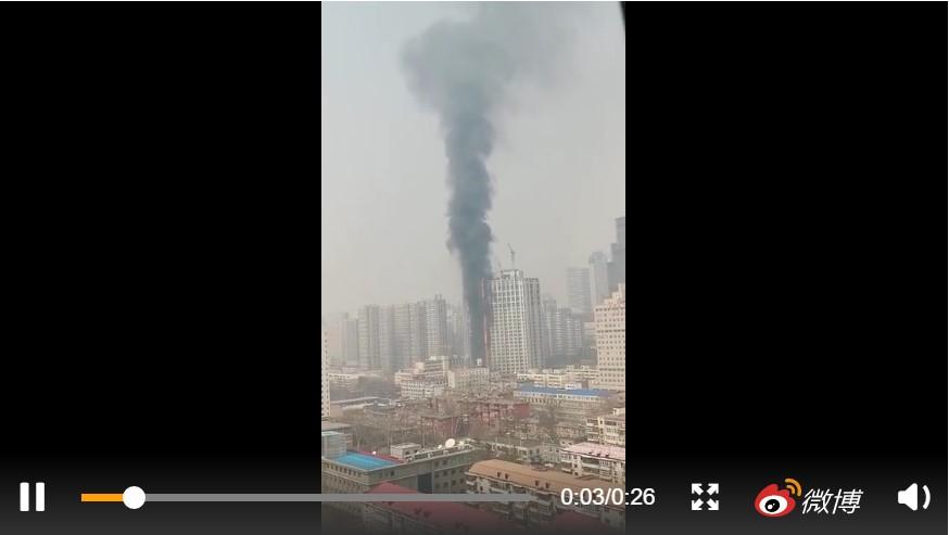 河北石家莊26層高樓火災 現場聽到爆炸聲