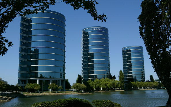 位於加州紅木城(Redwood City, CA)的以數據庫著稱的軟件公司甲骨文(Oracle)。(Getty Images)