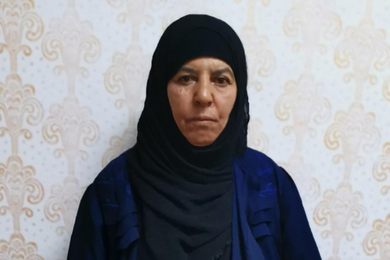 圖為已被殲滅的伊斯蘭國(ISIS)首腦巴格達迪(Abu Bakr al-Baghdadi)的姐姐拉斯米亞·阿瓦德(Rasmiya Awad)。(TURKISH GOVERNMENT / AFP)