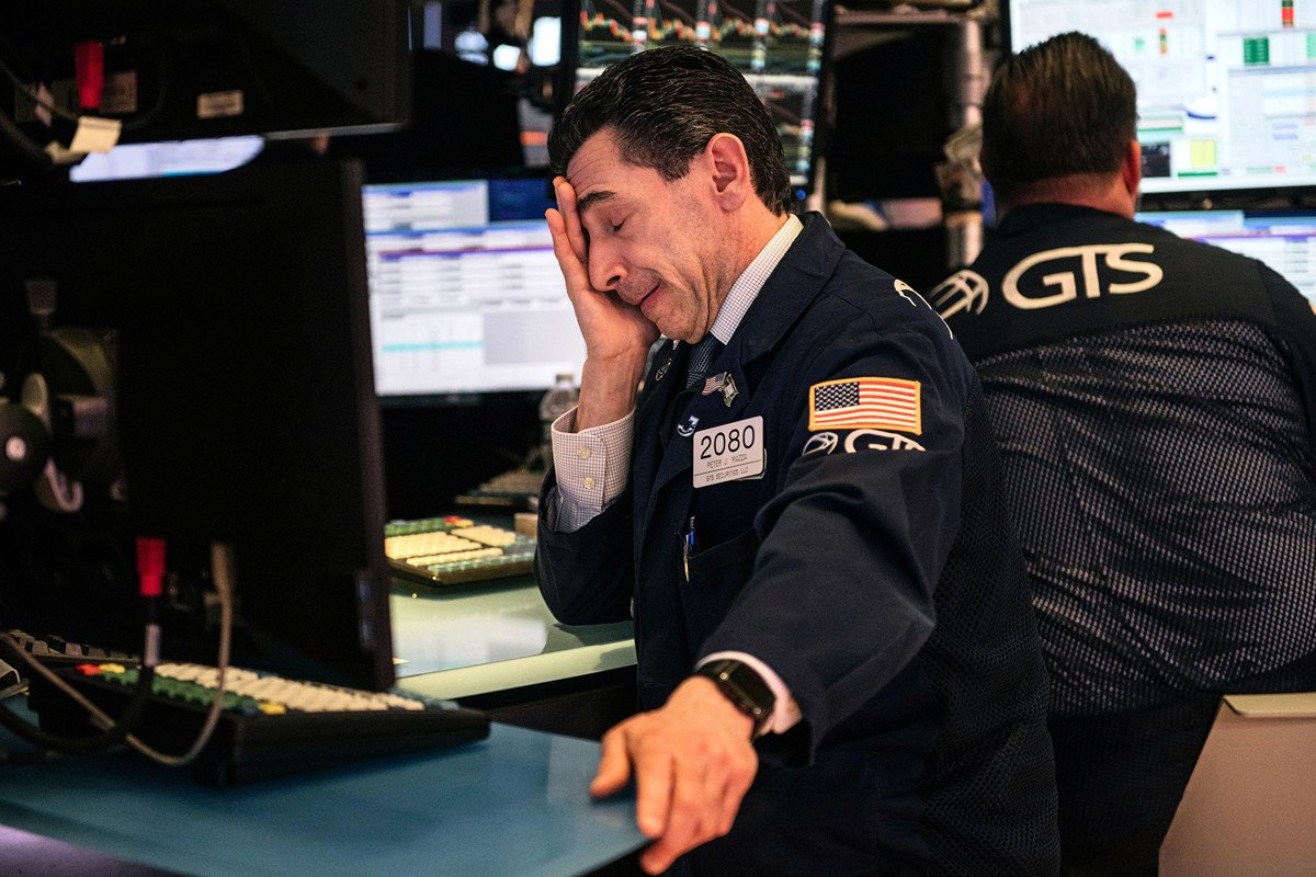周一(3月16日),投資者信心不足加上原油價格暴跌,美股開盤即啟動熔斷機制。(Scott Heins/Getty Images)