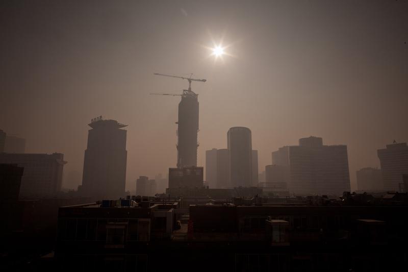 受貿易戰打擊,大陸經濟下行壓力大。示意圖。(Ed Jones/AFP/Getty Images)