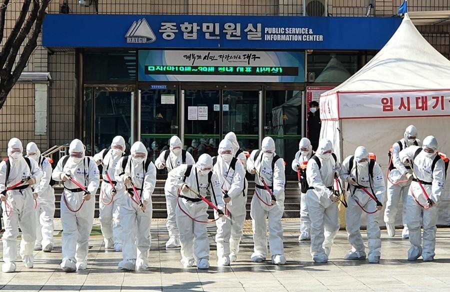 南韓中共肺炎病例破四千 軍隊隔離近萬人