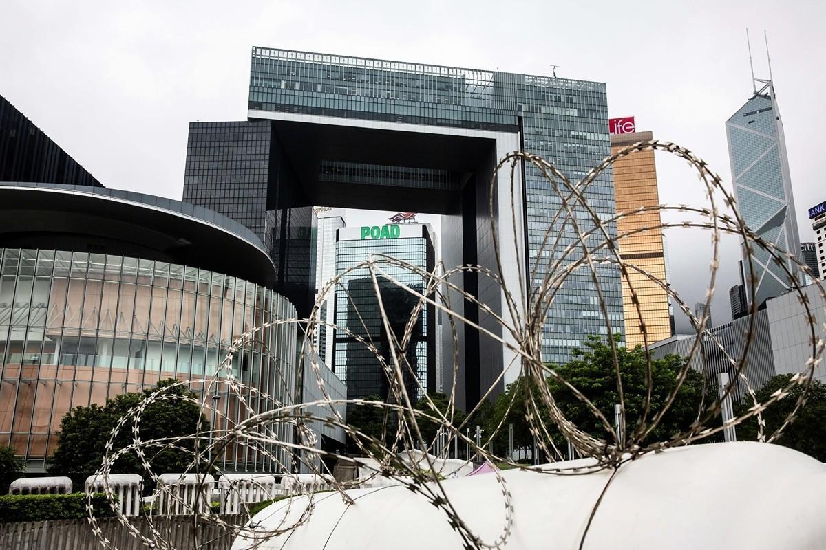 港版國安法登場,真正恐懼的是中共。圖為今年5月香港街頭的景象。(ISAAC LAWRENCE/AFP via Getty Images)