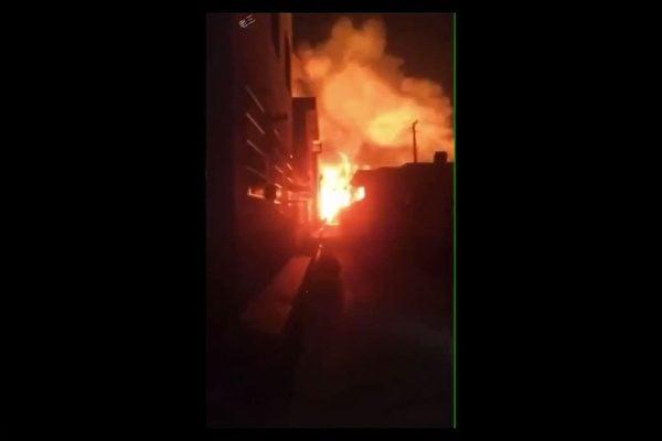 江蘇省連雲港市一家化工廠發生爆炸事故。(影片截圖)