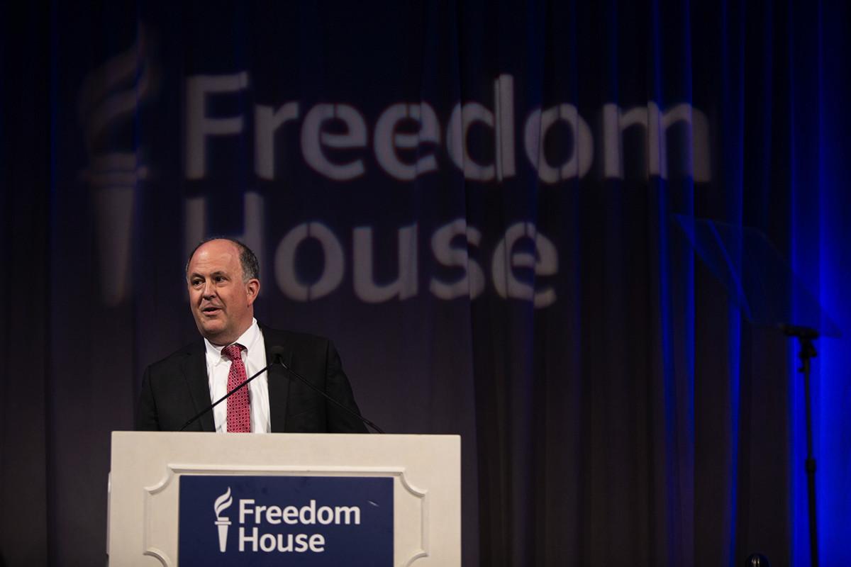 「自由之家」(Freedom House) 主席邁克爾·J·阿布拉莫維茨(Michael J. Abramowitz)。(Tasos Katopodis/Getty Images for Freedom House)