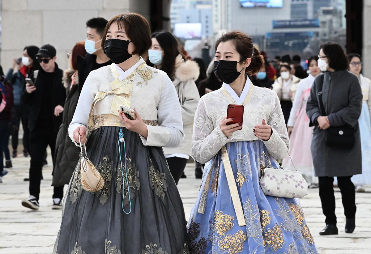南韓政府2020年2月20日宣佈,南韓疫情已經脫離防疫網控制,進入「社區傳播階段」。圖為示意圖。 (Jung Yeon-je/AFP)