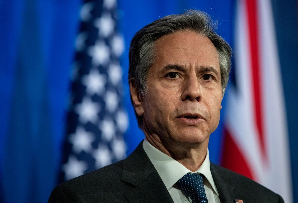 2021年9月7日,美國國務卿安東尼‧布林肯(Antony Blinken)表示,塔利班承諾不會阻止持合法旅行證件的人離開阿富汗。(Chris J Ratcliffe/Getty Images)