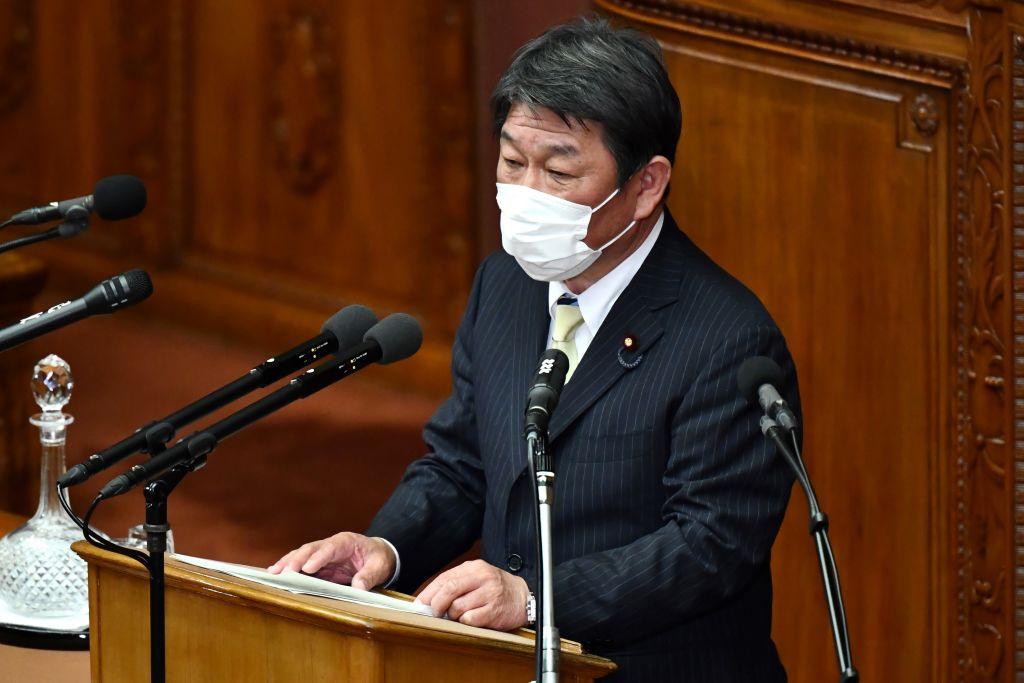圖為日本外相茂木敏充。(KAZUHIRO NOGI/AFP via Getty Images)