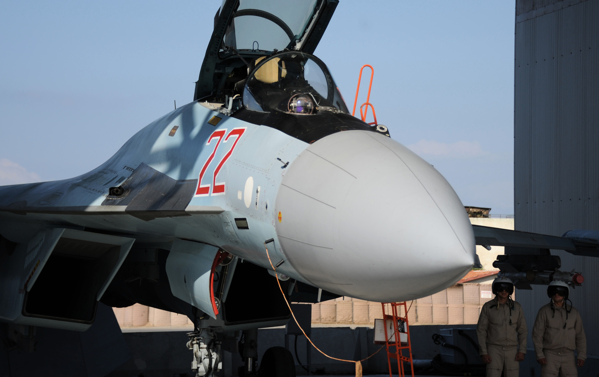 圖為俄羅斯蘇霍伊蘇-35戰鬥機(Sukhoi Su-35 fighter)。(MAXIME POPOV/AFP via Getty Images)