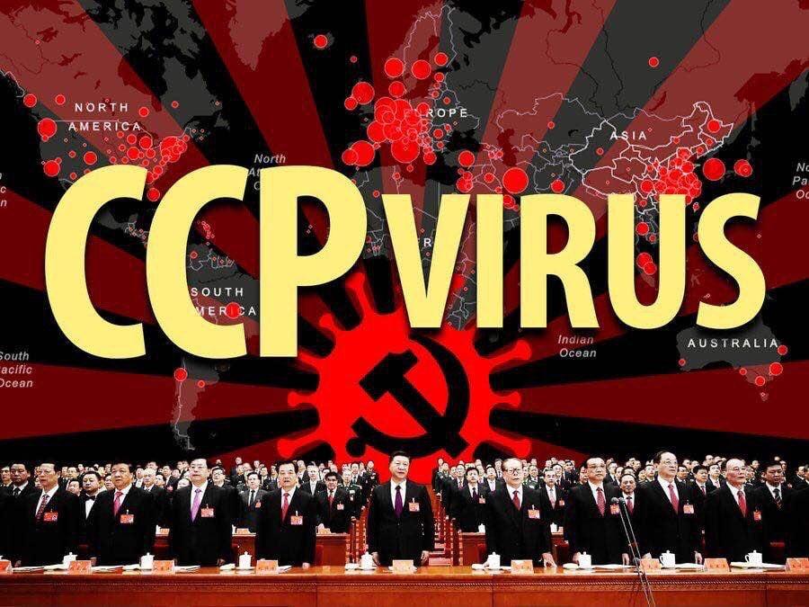 寫有「中共病毒」的英文圖片被微信過濾。(加拿大公民實驗室提供)