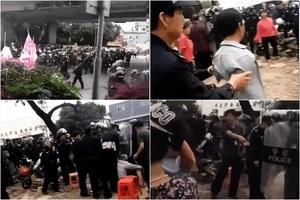 廣東村民晝夜護耕地 數百警察帶警犬鎮壓
