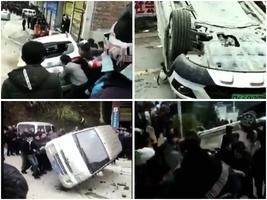 貴州禁土葬搶屍火化釀衝突 多輛警車被砸