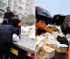 影片:城管搶業主買下的菜 愛心蔬菜被當垃圾