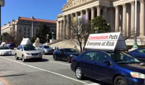 美國首都真相汽車遊行 民眾支持「打倒中共」
