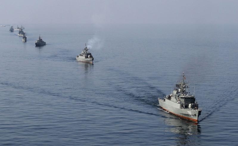 伊朗船隻挑釁 逼近美船 美軍方譴責