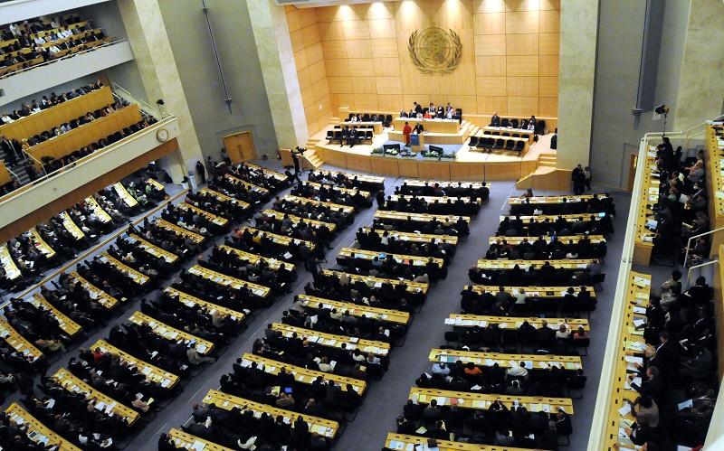 圖為第62屆世界衛生大會2009年在日內瓦舉行。(WHO提供/中央社)