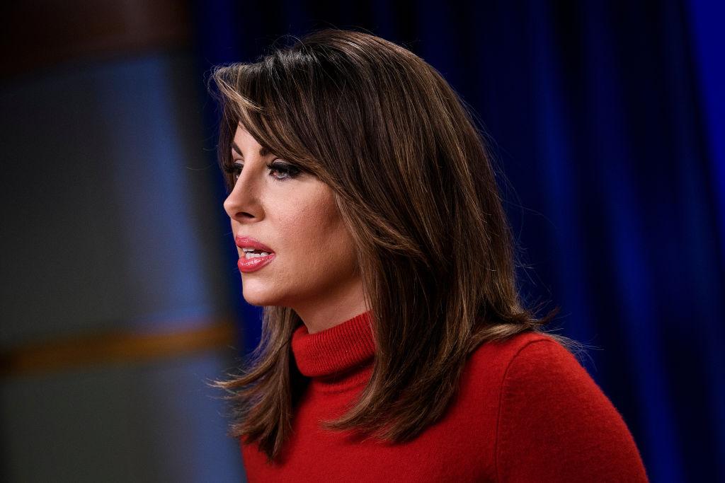 美國國務院發言人奧塔格斯(Morgan Ortagus)。(BRENDAN SMIALOWSKI/AFP via Getty Images)