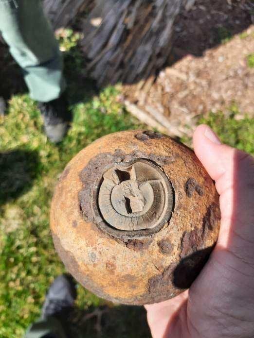馬里蘭州發現一顆160年前炮彈 威力強大