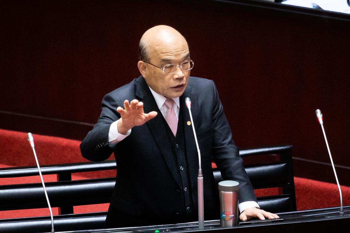 對於中國大陸的影音串流平台「愛奇藝」在台灣無法可管,行政院長表示,請副院長召集相關部會修法,並請立法院大力支持,不能讓中共達到併吞台灣的目的。(陳柏州/大紀元)