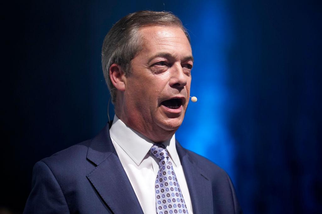 英國脫歐黨領袖奈傑爾·法拉奇(Nigel Farage)。 (Christopher Furlong/Getty Images)