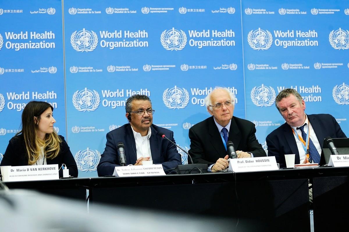 世界衛生組織(WHO)派往中國的專家團隊,被指未遵守隔離檢疫14天的規定,就搭機離開中國。圖為世界衛生組織1月份在日內瓦的會議。(Getty Images)