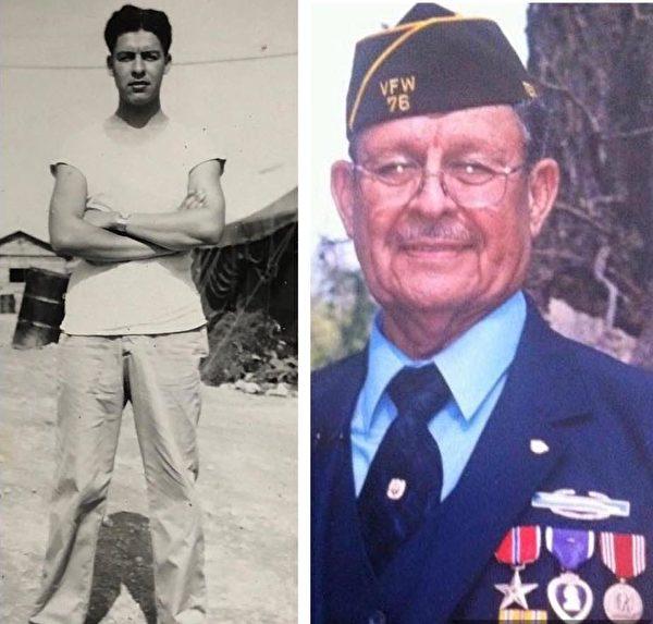阿爾弗雷德‧瓜拉年輕時和現在的照片。(由薩拉‧洛塞爾‧瓜拉提供)