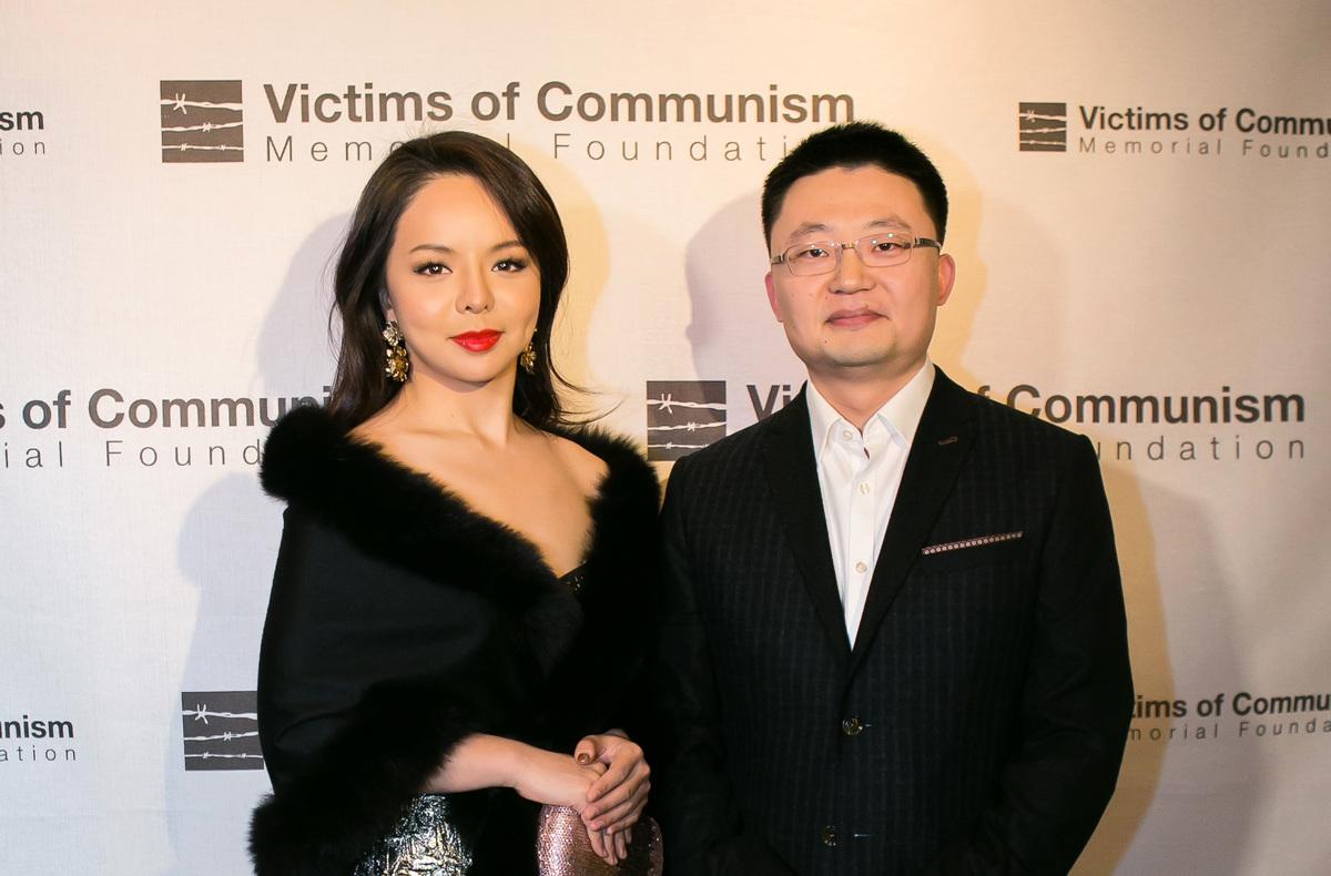 《血刃》導演李雲翔和女主演林耶凡出席12月14日在華盛頓D.C.的首映會。(李莎/大紀元)