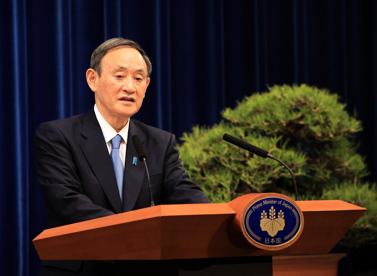 日本首相菅義偉資料照。(YOSHIKAZU TSUNO/POOL/AFP via Getty Images)