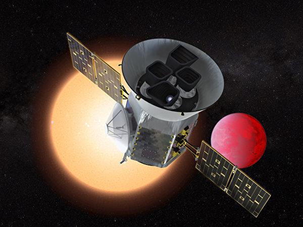 為了尋找外星生命,美國太空總署(NASA)於當地時間4月18日傍晚在佛羅里達州,發射了一顆凌日系外行星勘探衛星(TESS)。圖為TESS。(AFP)