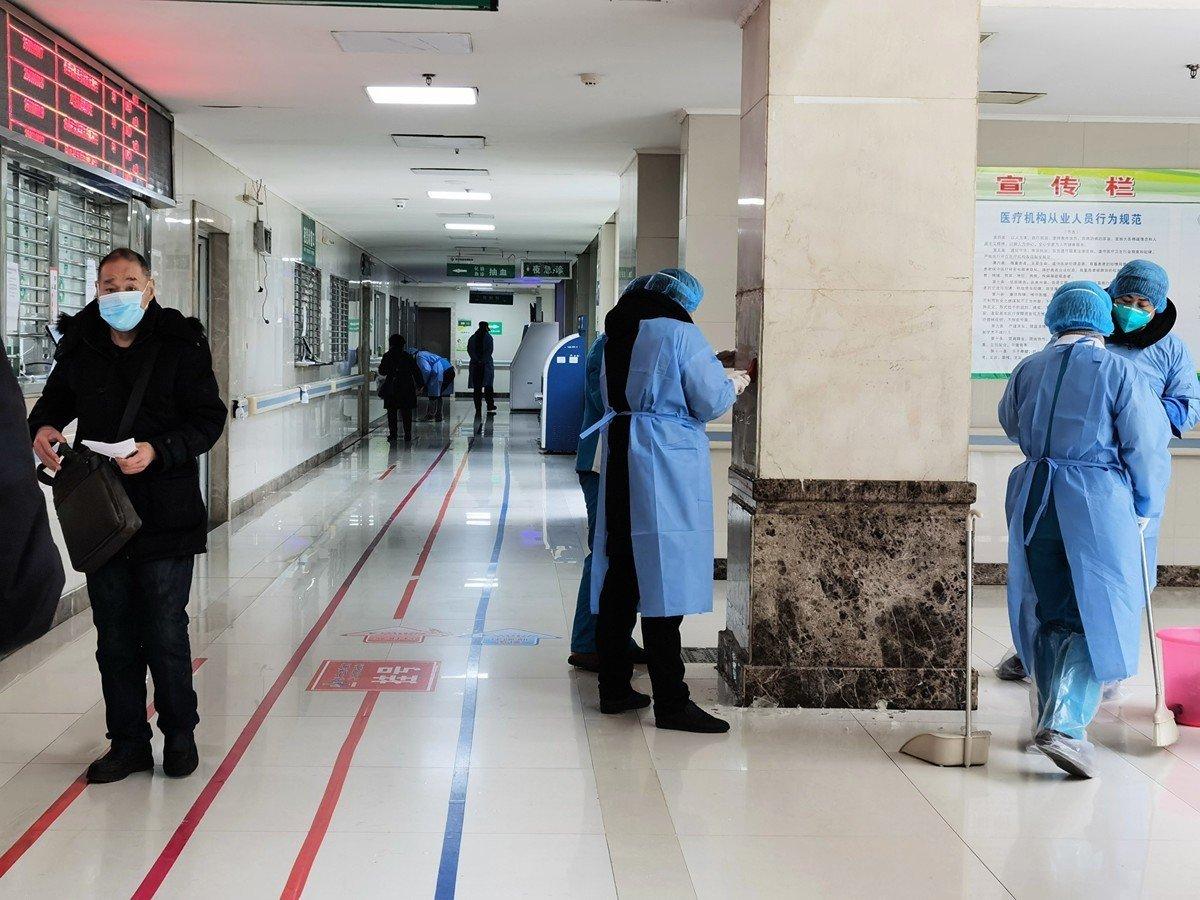 中共日前宣稱,武漢市金銀潭醫院(圖)深切治療部(ICU)病區的患者已清零,引發國際社會質疑。(Getty Images)