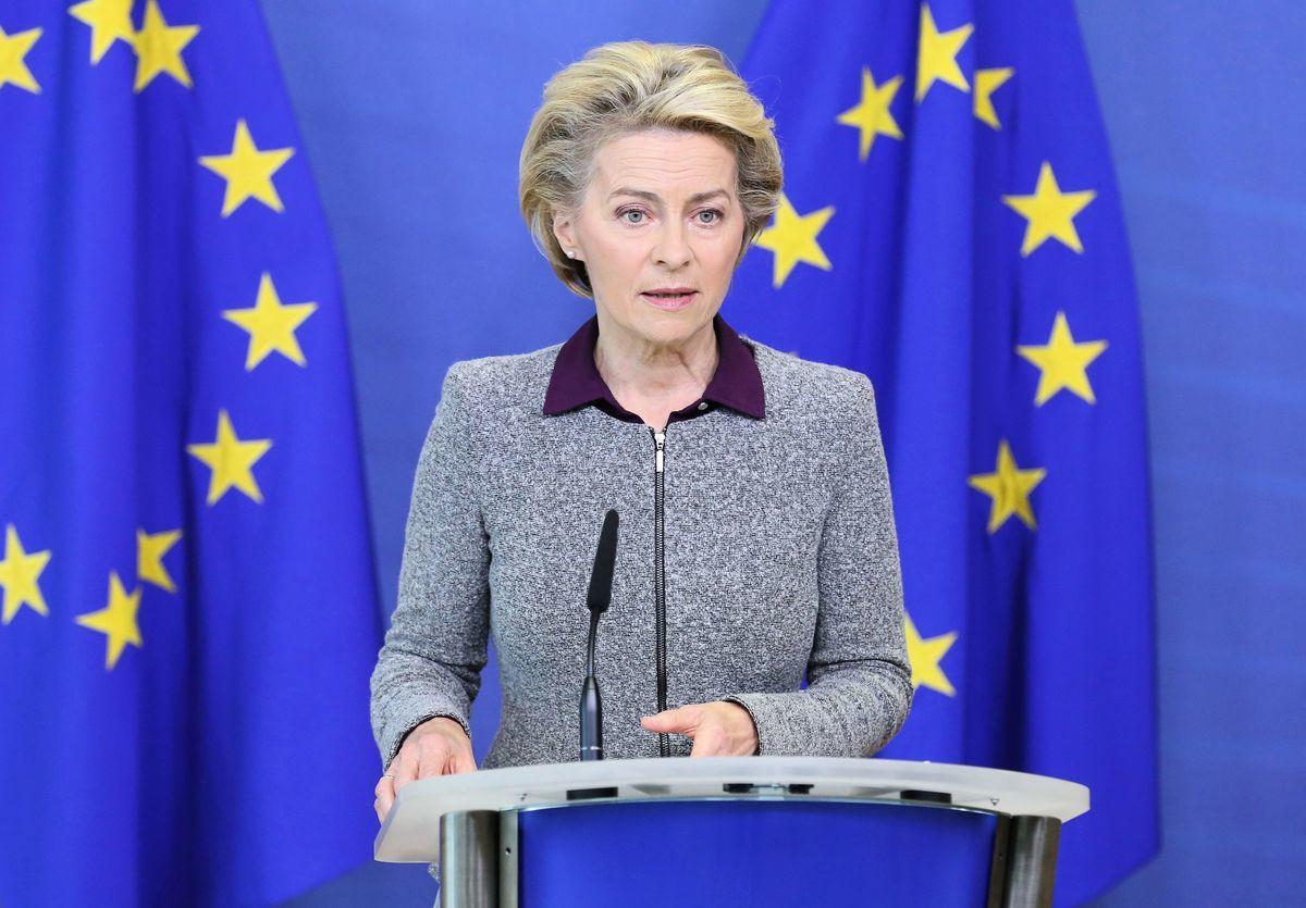 圖為歐盟委員會主席馮·德萊恩(Von der Leyen)。(FRANCOIS WALSCHAERTS/POOL/AFP via Getty Images)