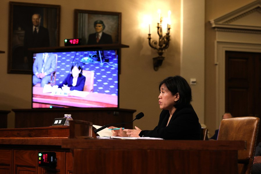 戴琪:中美貿易關係嚴重失衡 美國致力於拉平