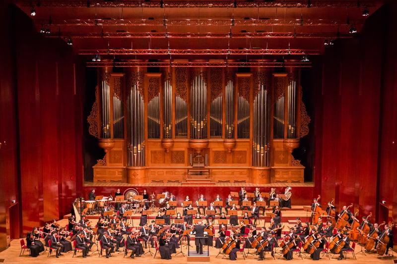 圖為2018年9月13日晚,神韻交響樂團於台北國家音樂廳舉行演出。(陳柏州/大紀元)