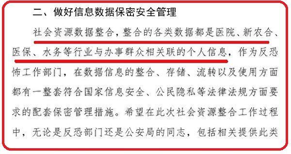 梁園區政法委2020年反恐會議披露說,中共收集的所謂反恐數據其實都是個人資料。(大紀元)