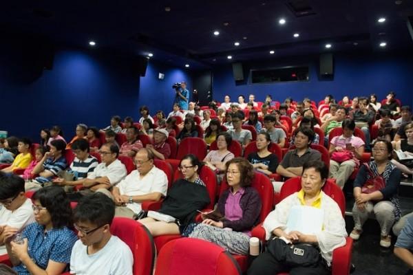 榮獲多項國際大獎的紀錄片《活摘》,日前在台北國賓戲院長春影城舉行中文版全球首映式。(王仁駿/大紀元)