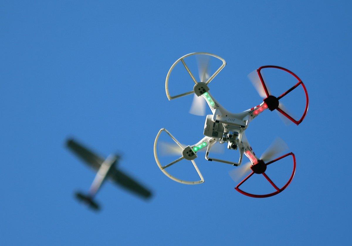 在這次武漢瘟疫中,中共各地普遍採用無人機「抗疫」。圖為無人機。(Getty Images)