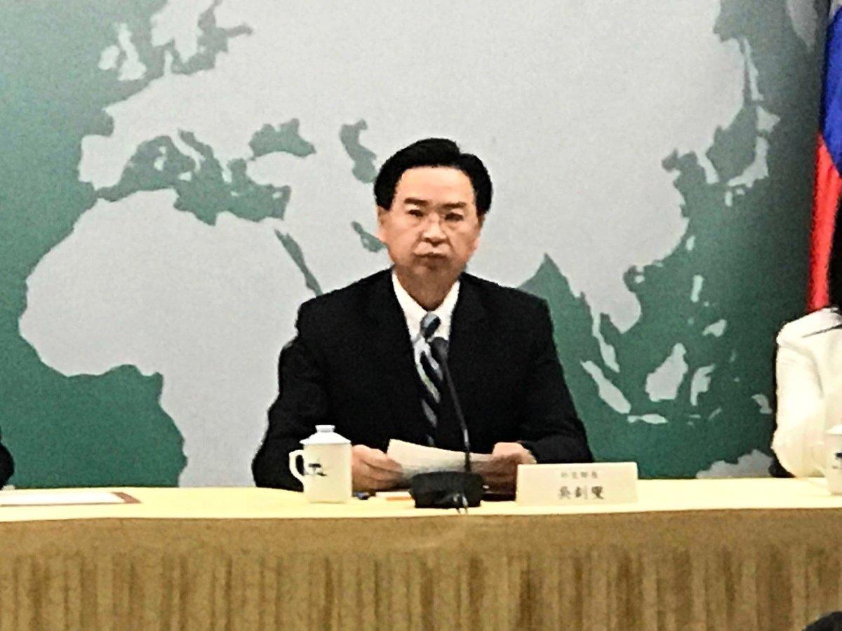 圖為台灣外交部長吳釗燮。資料圖。(李怡欣/大紀元)