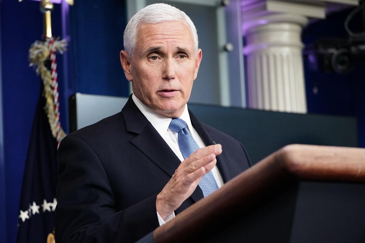美國副總統彭斯(Mike Pence)說,特朗普政府強烈反對社交媒體和大型科技公司針對保守派進行審查。(MANDEL NGAN/AFP)