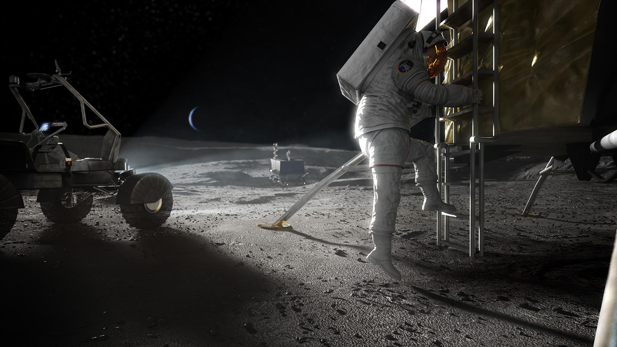 NASA周四(4月30日)宣佈阿蒂蜜絲(Artemis)登月計劃的硬體製造商名單,入選者分別是特斯拉汽車創辦人馬斯克的SpaceX、亞馬遜總裁貝佐斯的Blue Origin以及擅長無人機技術的 Dynetics。(NASA)