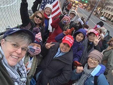 佛州的特朗普總統支持者到達華盛頓DC。(受訪者提供)