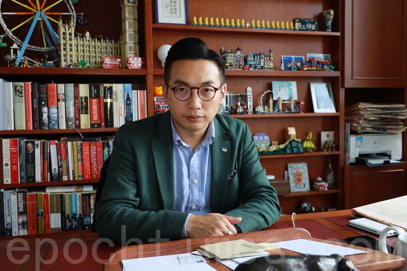 香港執業大律師、現任公民黨黨魁、香港立法會議員楊岳橋。(王偉明/大紀元)