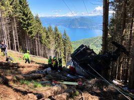 組圖:意大利纜車墜毀事故 至少14人死亡
