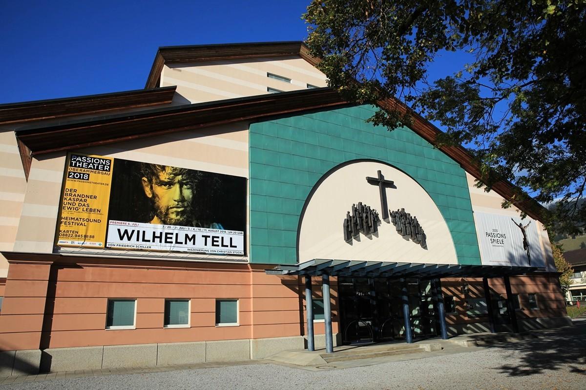 德國巴伐利亞的歐伯阿梅高(Oberammergau)上演《耶穌受難劇》的劇場。(黃天辰提供)