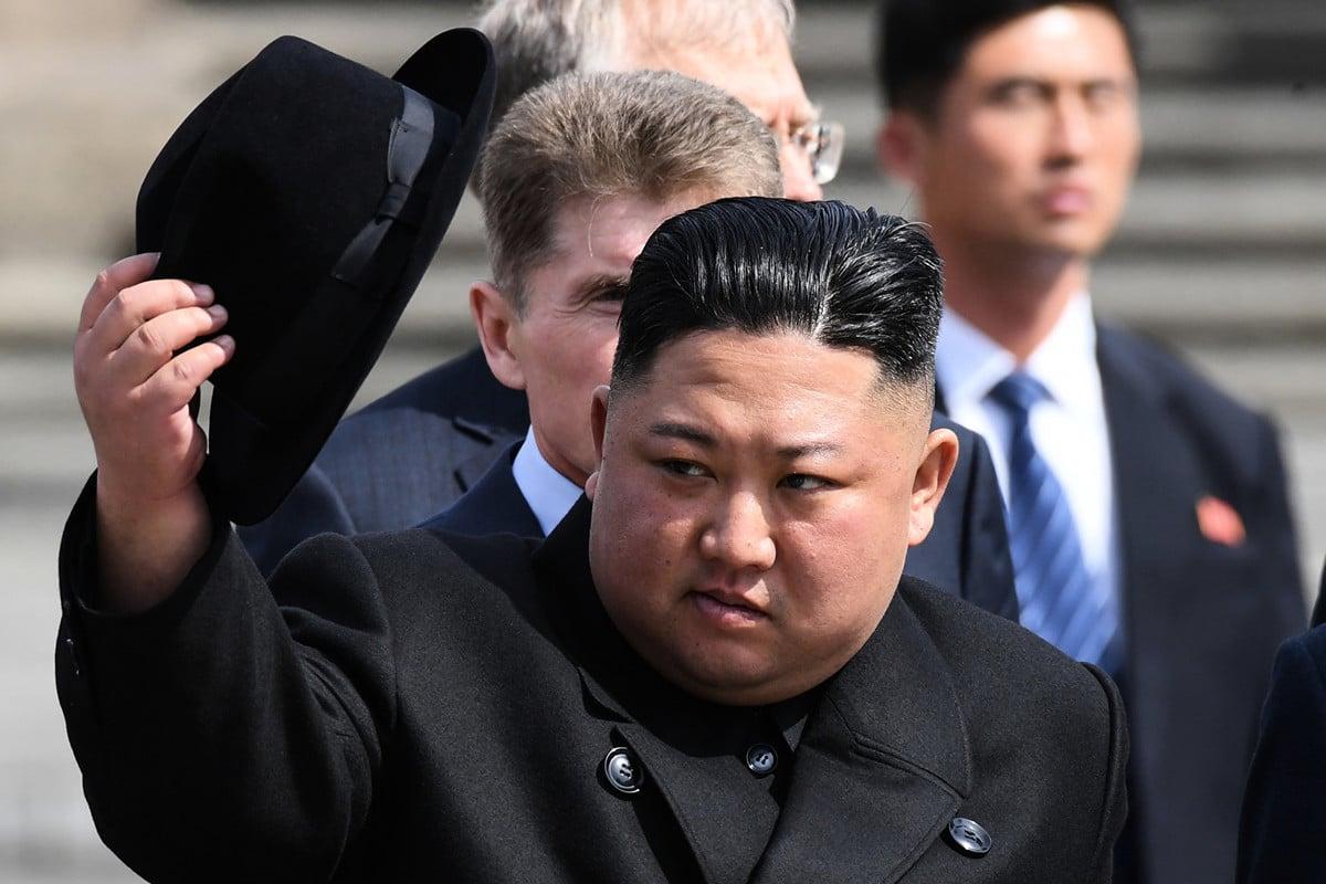 美國之音取得的北韓內部文件顯示,北韓領導人金正恩無意放棄核武。圖為2019年4月26日,金正恩訪問俄羅斯海參崴。(Kirill KUDRYAVTSEV / AFP)