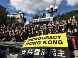紐約聯合廣場悼念香港8.31事件