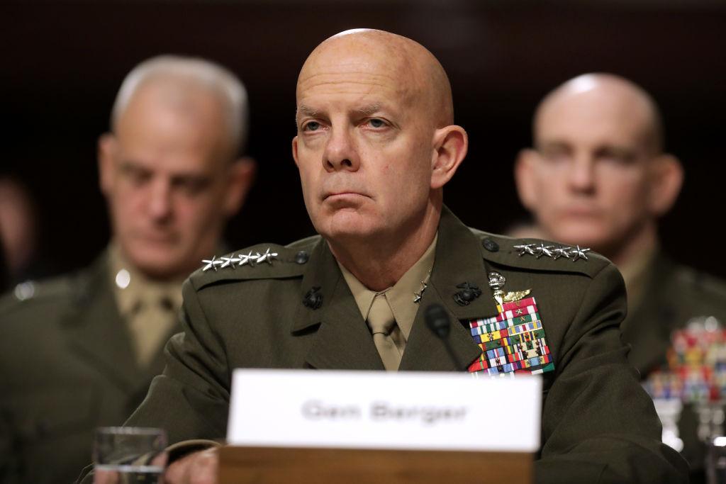美國海軍陸戰隊司令大衛·伯傑(David Berger)資料照。(Photo by Chip Somodevilla/Getty Images)