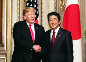 特朗普安倍會談 日本購105架F-35戰機