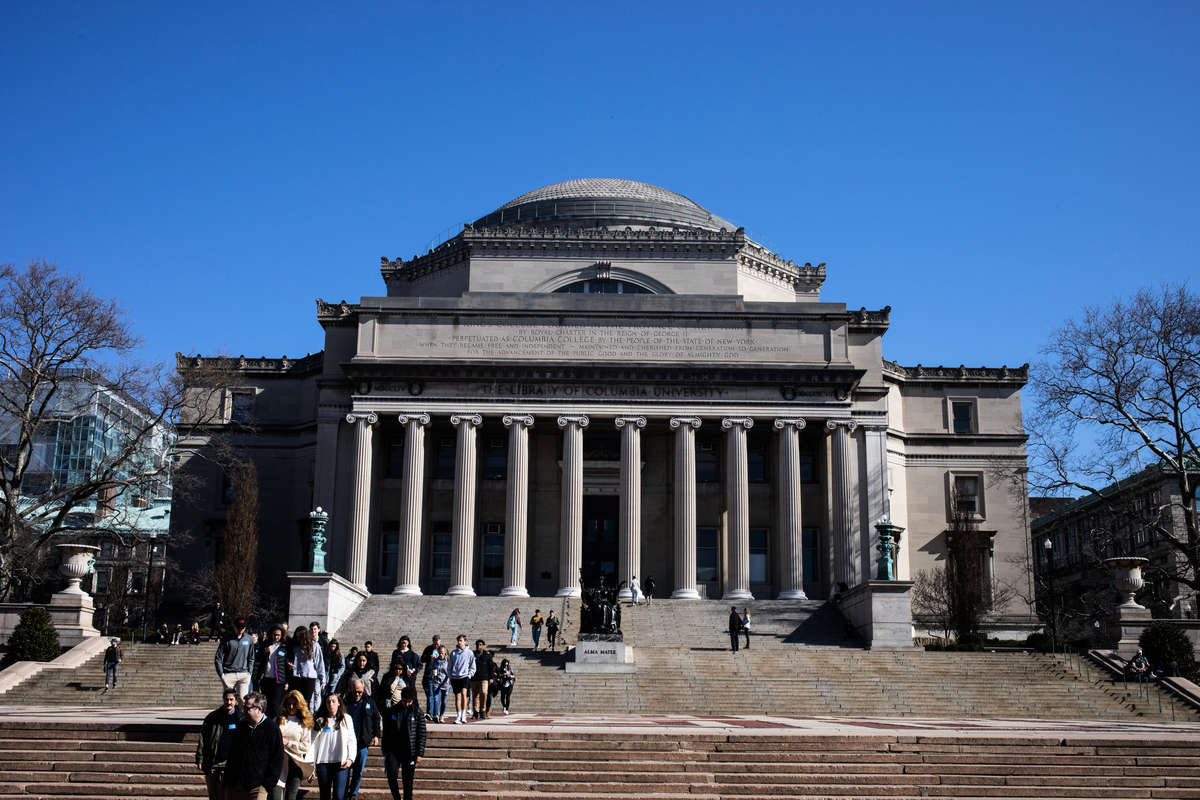 美國媒體披露,哥倫比亞大學至少從中共政府收取100萬美元,但該大學沒有向美國聯邦政府披露這些資金。(Jeenah Moon/Getty Images)