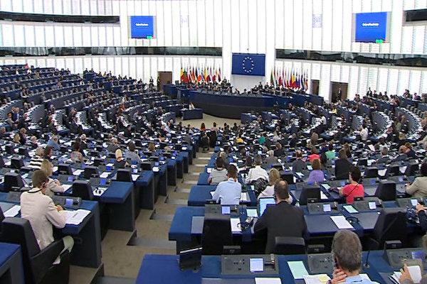 圖為位於布魯塞爾的歐洲議會全體大會。(歐洲議會資料照)