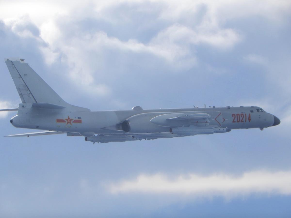 中共的轟-6型轟炸機資料照。(台灣國防部)